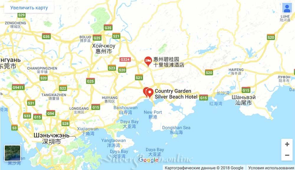 Silver Beach на карте Ырутярут Hong Kong