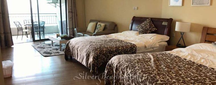 Студия посуточно с двумя кроватями 14218 лучшее расположение