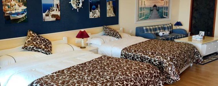 Отличная студия с двумя кроватями и с прекрасным видом 00200